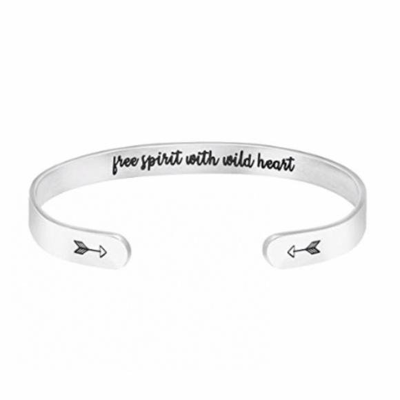 Free Spirit Inspirational Bangle Bracelet For Her